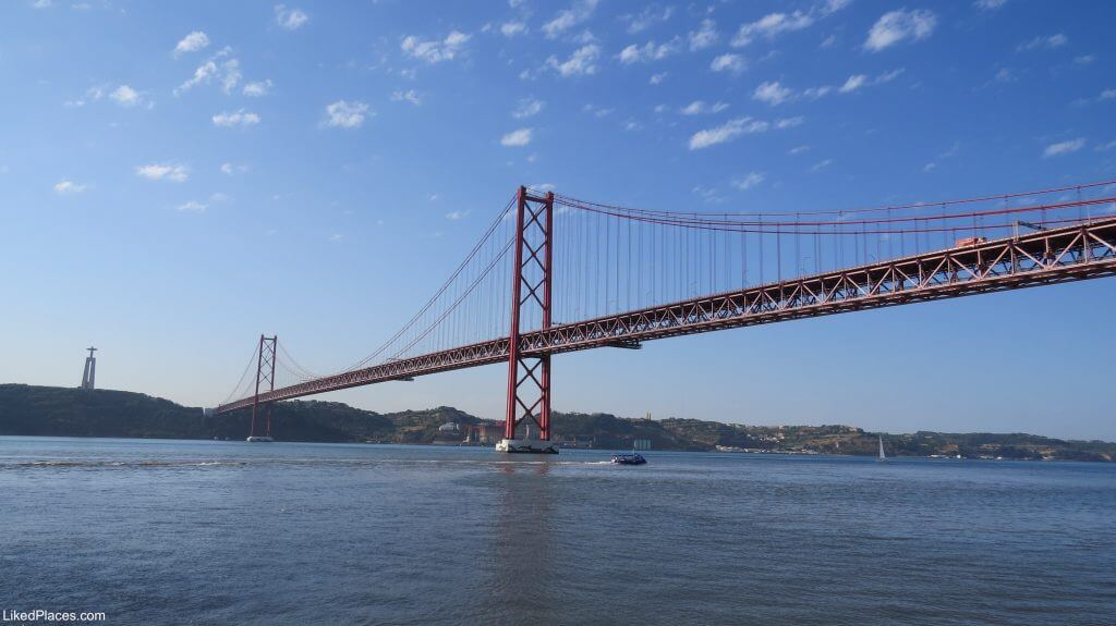 Lisbon 25th of April Bridge over the Tagus River