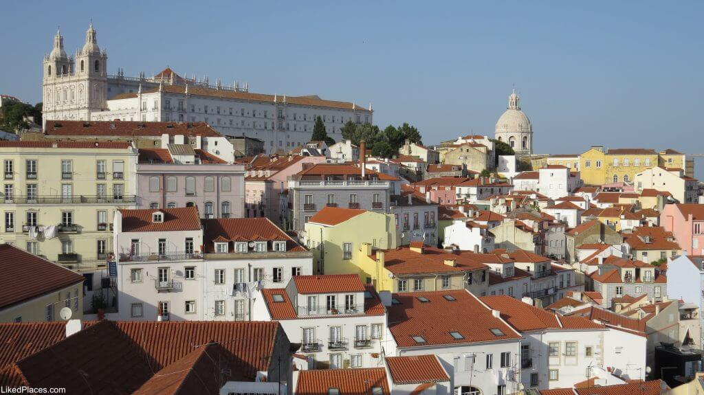 Lisbon View of Alfama and Sao Vicente Neighborhoods