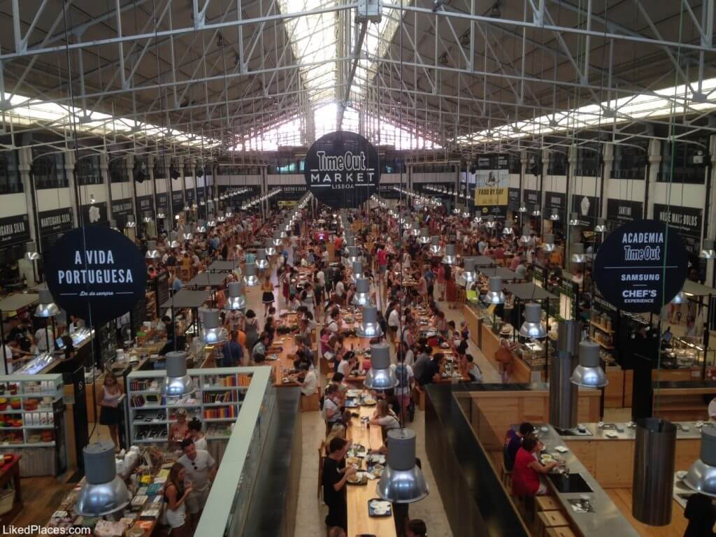 Lisbon Ribeira Market also called Time Out Market