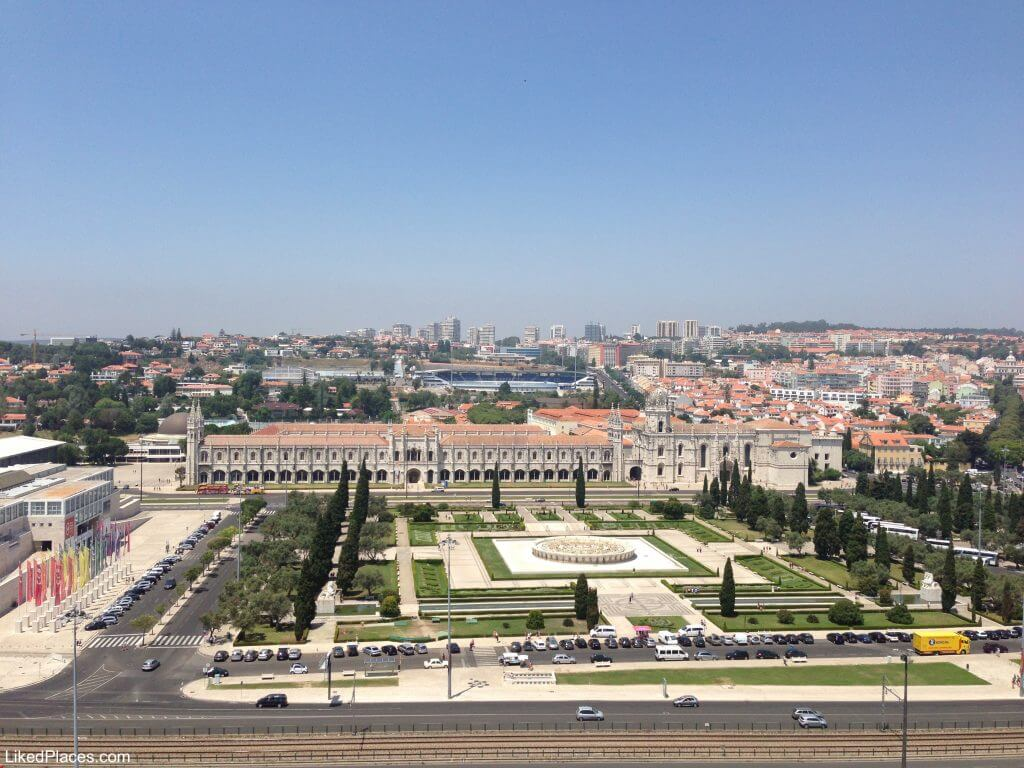 View from the Discoveries Pattern to the Jeronimos Monastery with Empire Square and CCB