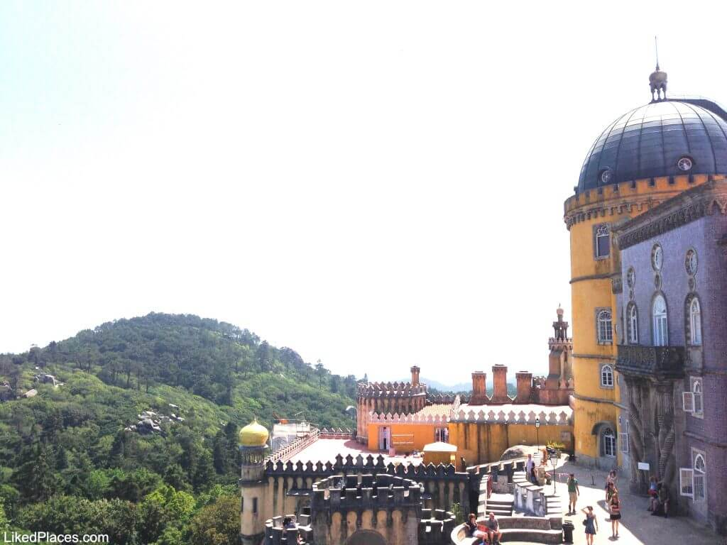 Sintra Pena Palace overlooking the Serra de Sintra