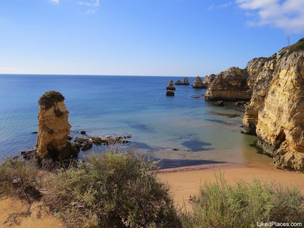 Algarve, view of Dona Ana Beach in Lagos