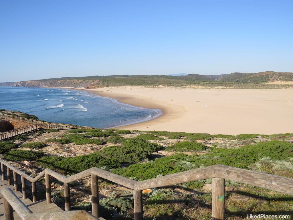 Algarve Vista da Praia da Bordeira em Alzejur