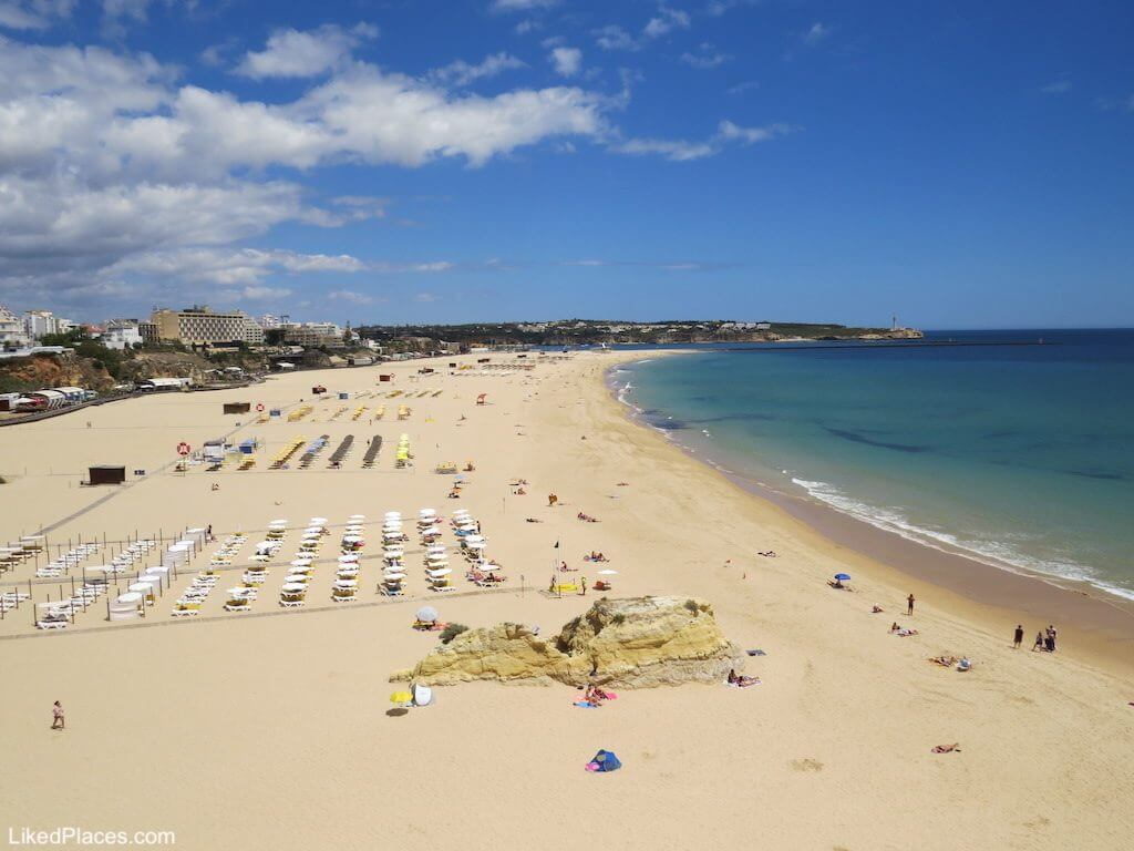 Algarve, view of Praia da Rocha in Portimão