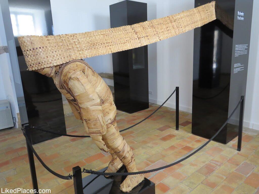 Algarve, Sculpture of the King Amador in the Museum Nucleus Rota da Escravatura in Lagos