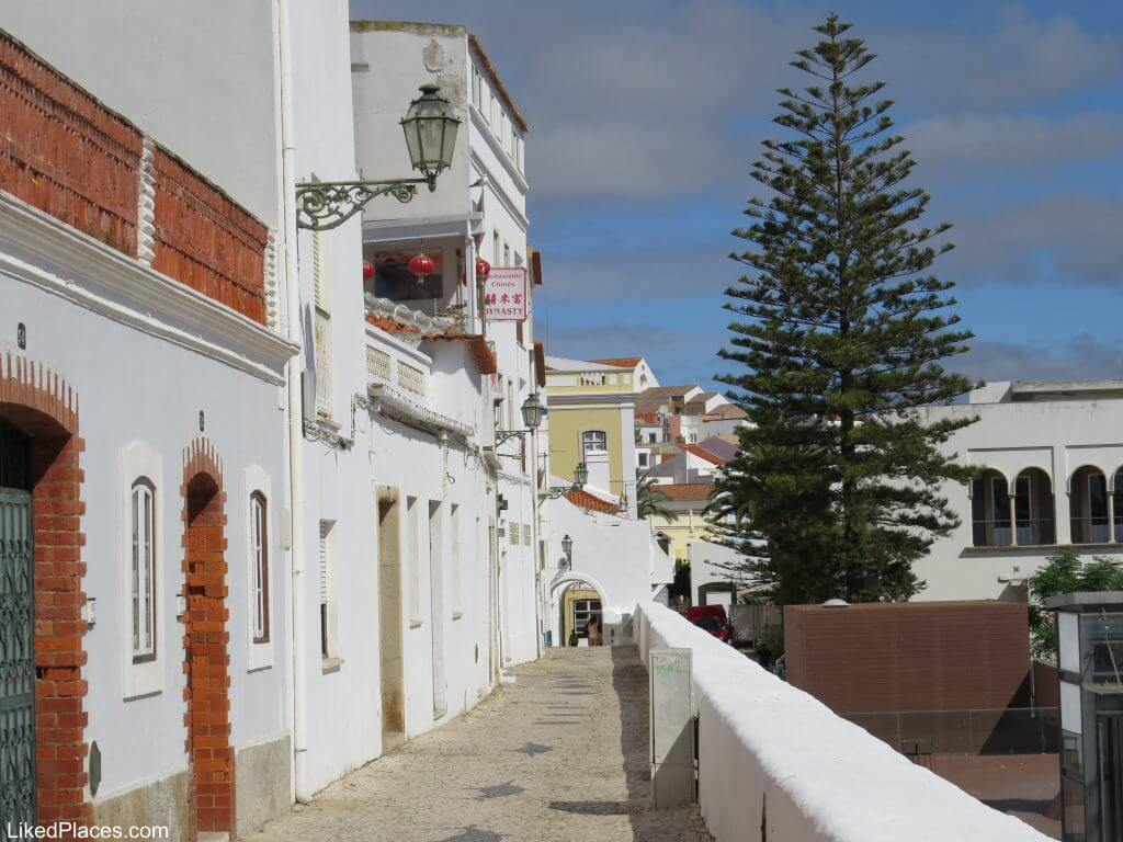 Algarve, view of the arches of Rua da Barroca in Lagos