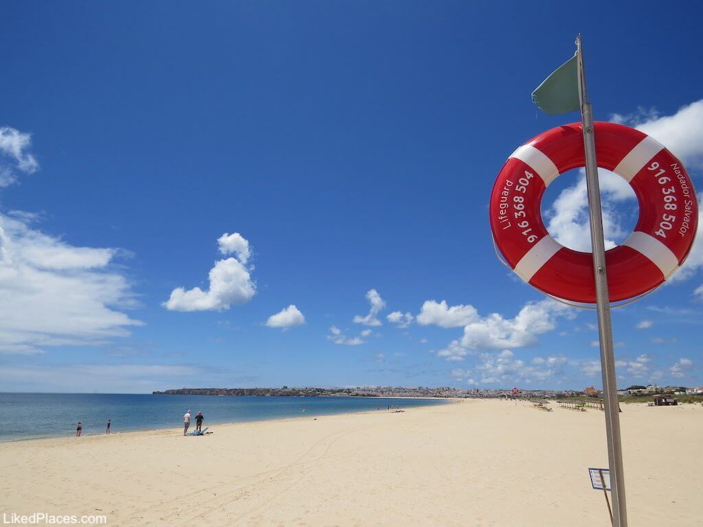 Algarve View of Meia Praia beach in Lagos