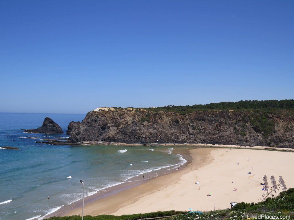 Algarve Vista da Praia de Odeceixe em Aljezur