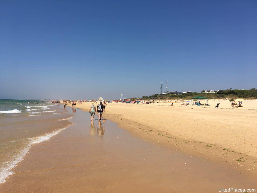Algarve, Vista da Praia Verde em Castro Marim