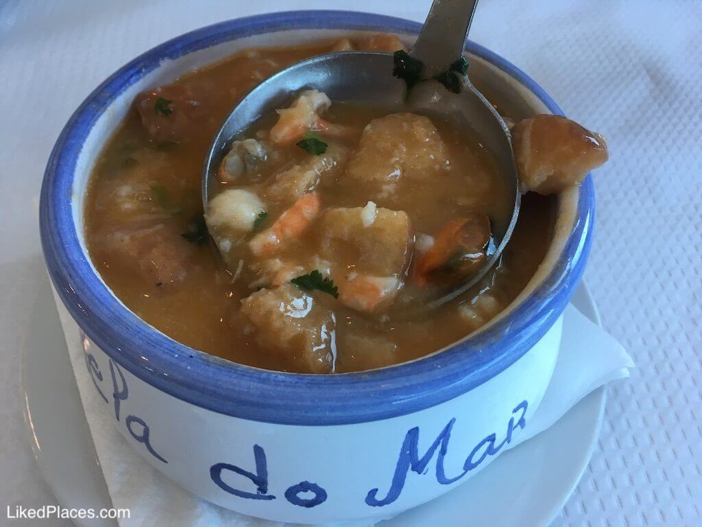 Bowl of rich sea soup, Starfish Restaurant, Ericeira