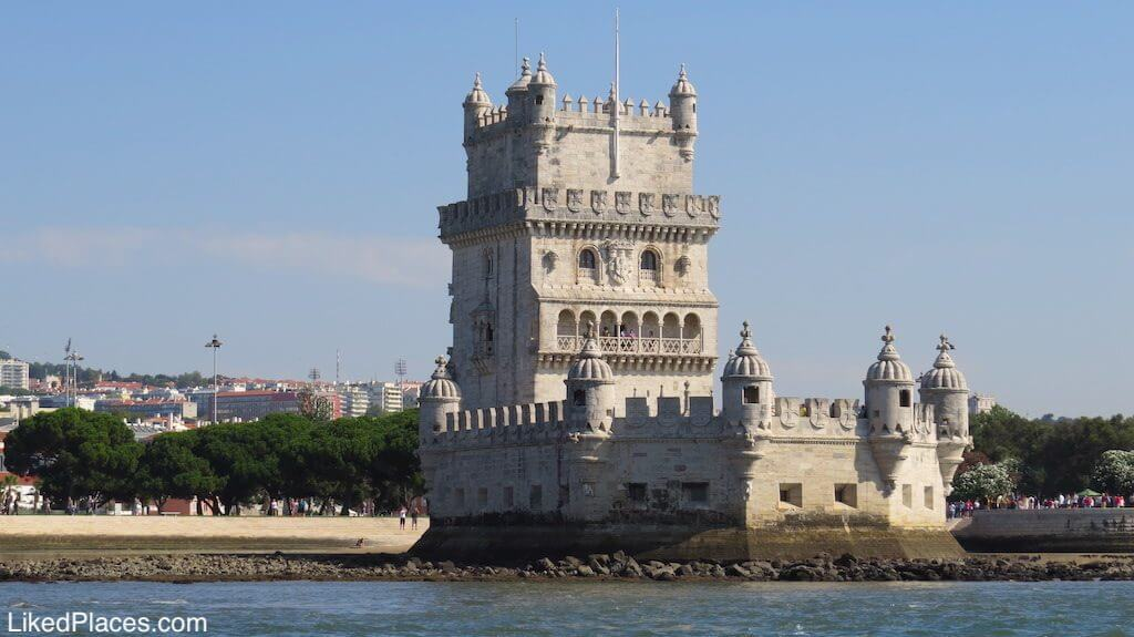 View of Belém Tower from the Tagus River. Lisbon city in the background. Investing in Tourism in Portugal