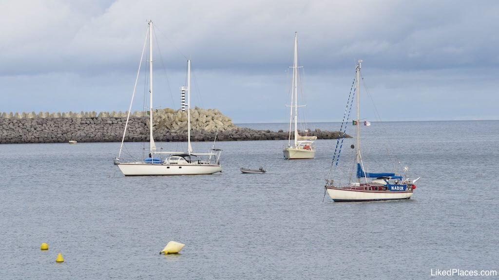 Barcos, na Baía da Praia da Vitória, Bay, Ilha da Terceira, Açores, Island, Azores,