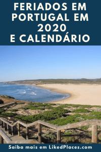 PIN Feriados em Portugal em 2020 e calendário