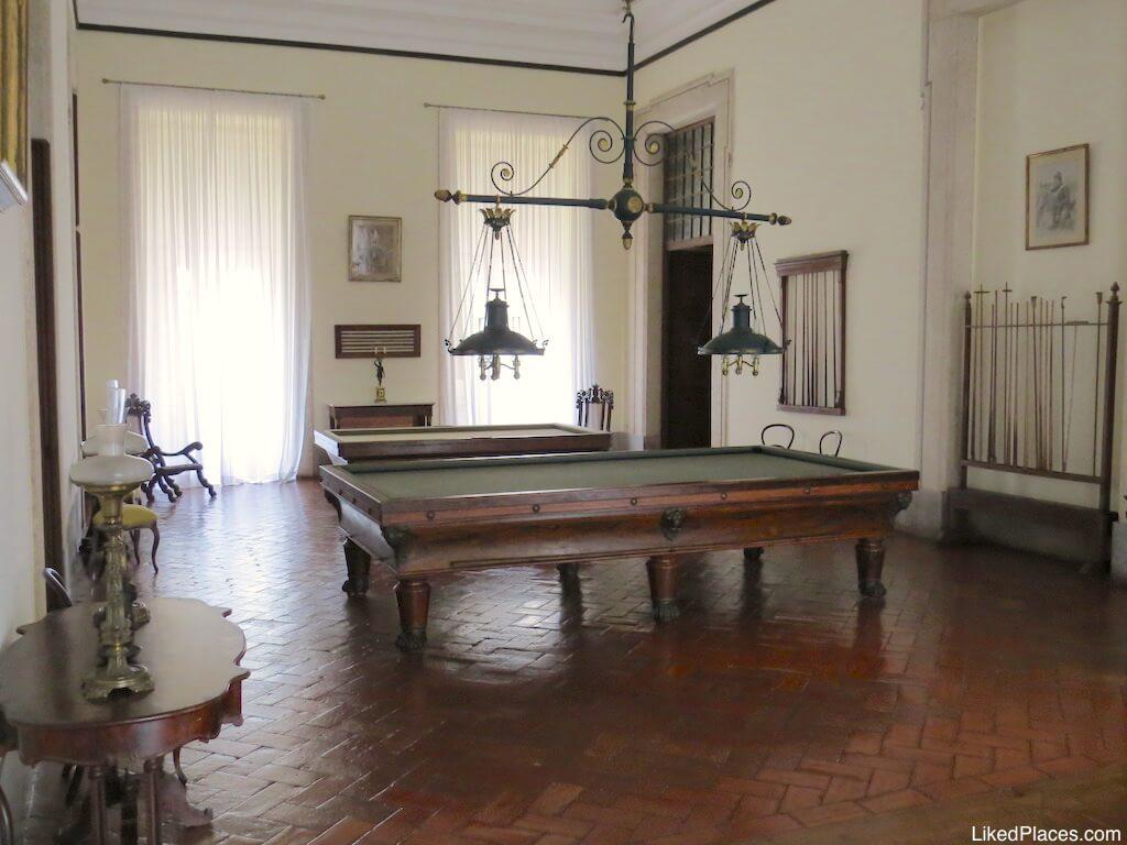 Sala de jogos do Palácio Nacional de Mafra Palace Games Room