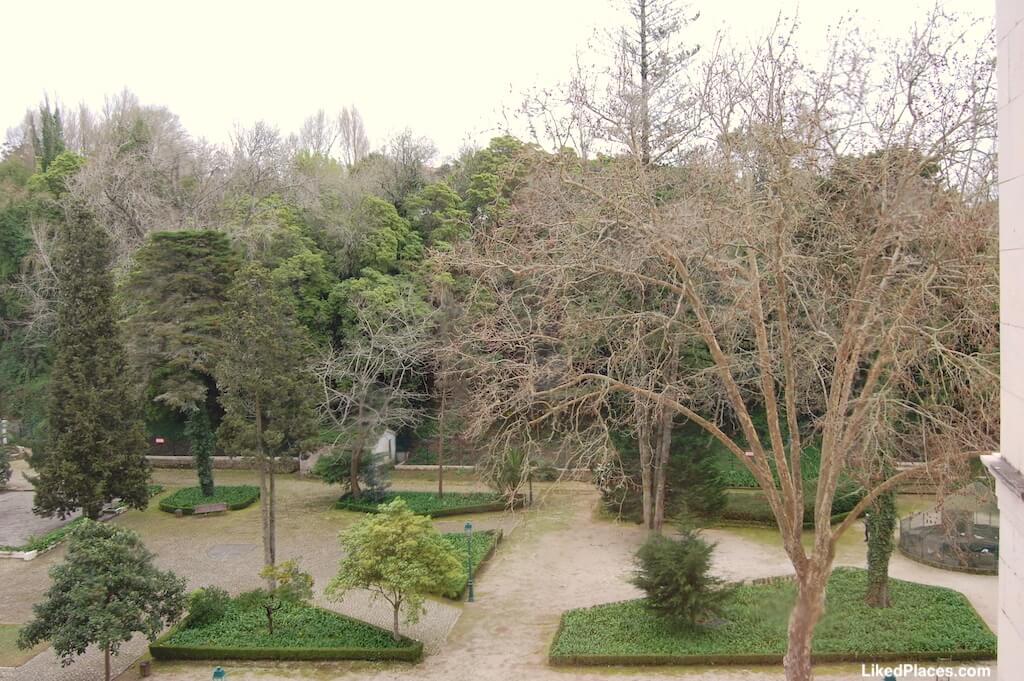 Jardim do Cerco visto a partir do Palácio de Mafra