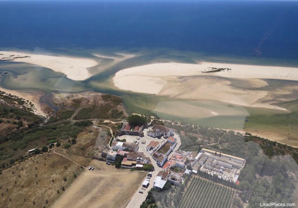 Cacela Velha e Ria Formosa vistas do ar