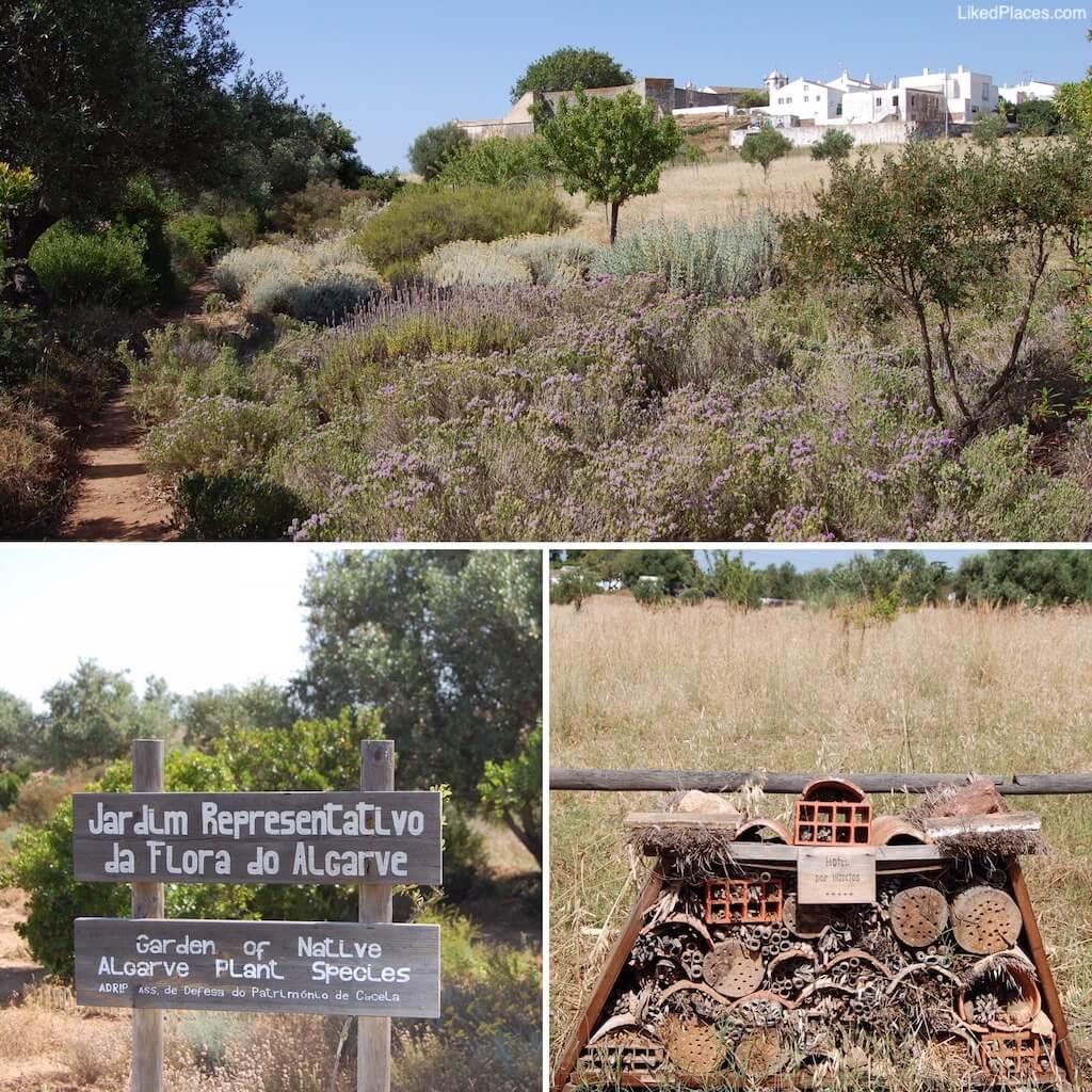 Jardim Representativo da Flora do Algarve em Cacela Velha, com detalhe do hotel de insectos