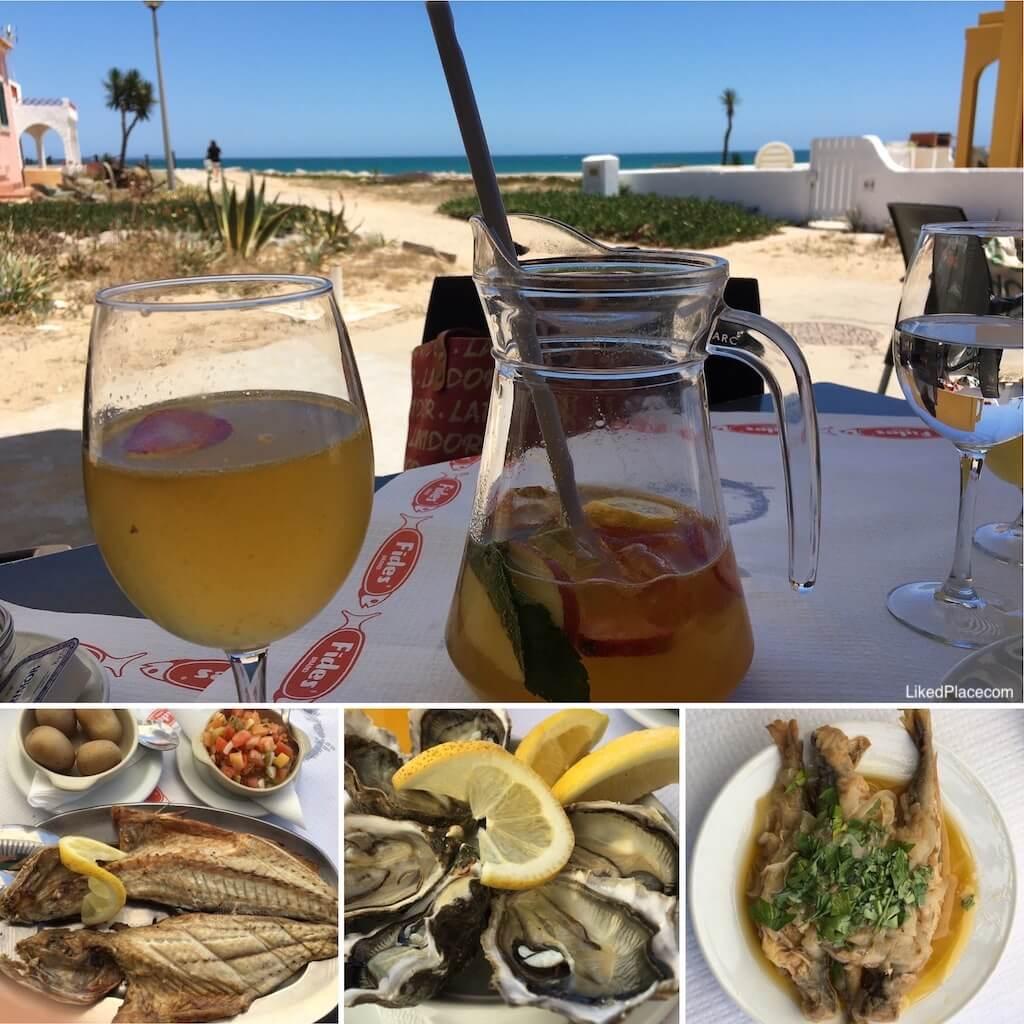 Vista do Restaurante Á do João, Farol, Ilha da Culatra.  Á do João Restaurant, Farol, Culatra Island