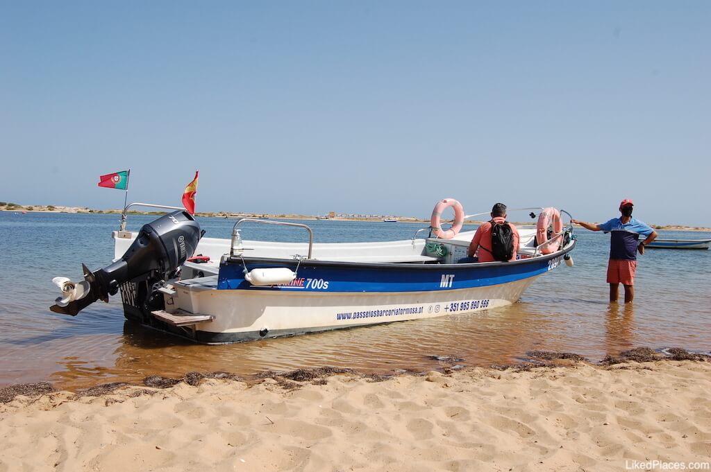 Barco para a Praia Cacela Velha Fábrica