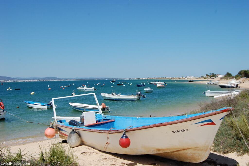 Barcos na Ilha da Culatra