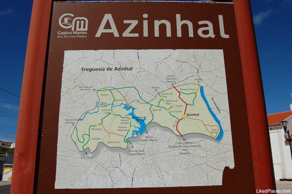 Quadro Informativo com mapa do Azinhal em Castro Marim