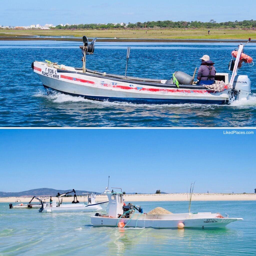 Pesca e Extração de Areia na Ria Formosa