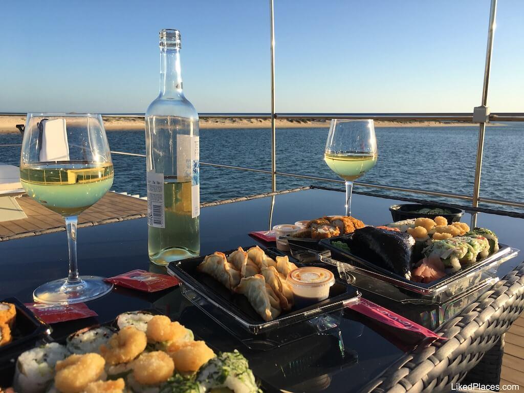 Jantar a bordo do Barco Casa da Passeios Ria Formosa, Fuzeta