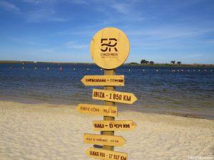 cinco 5 Reis Parque Fluvial Praia Beja placas