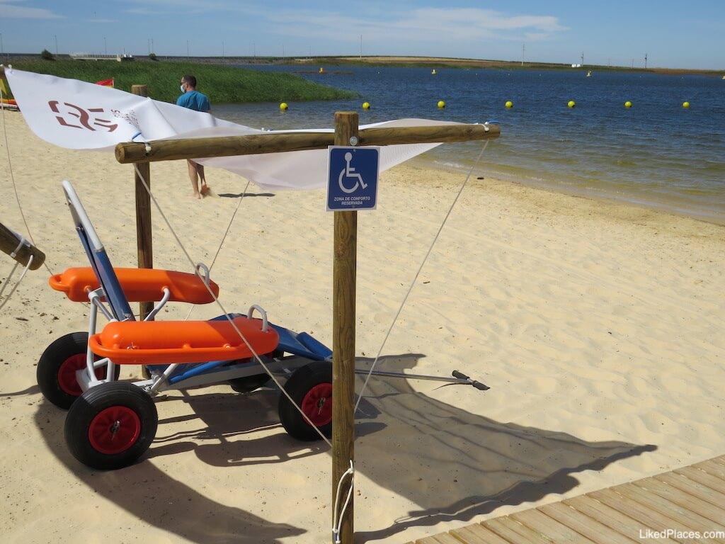 Parque Fluvial 5 Reis Praia acessivel mobilidade reduzida Beja