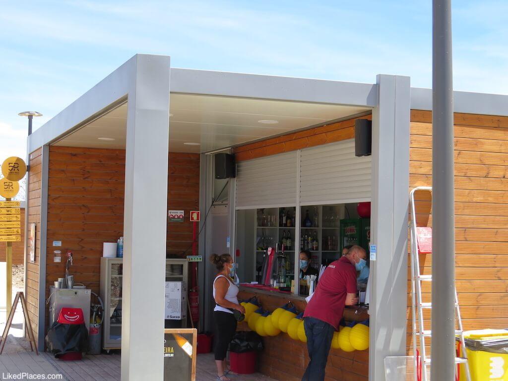 Parque Fluvial 5 reis Beja bar apoio praia