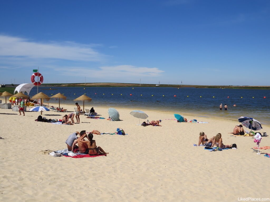 Parque Fluvial 5 reis Praia Beja areal salva vidas