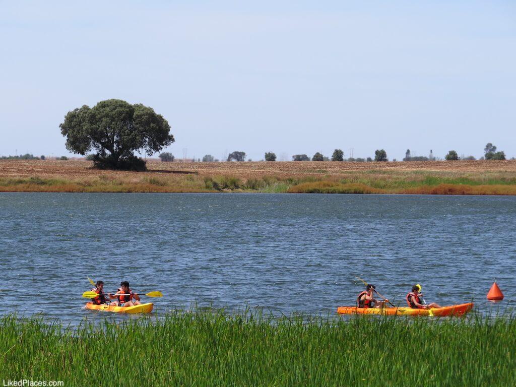 5 cinco Reis Parque Fluvial Praia Beja kayak