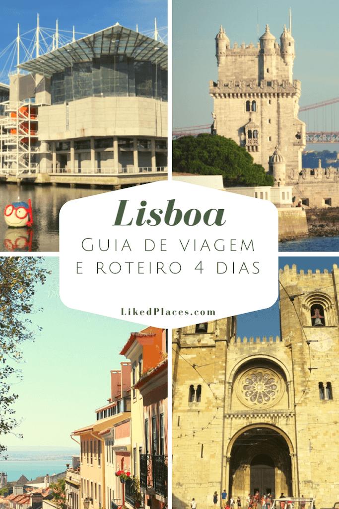 PIN Lisboa Guia de Viagem e Roteiro de 4 dias