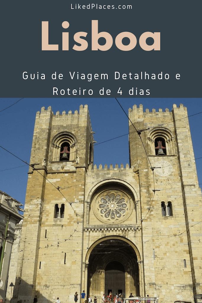 Pin Guia viagem Lisboa e roteiro 4 dias