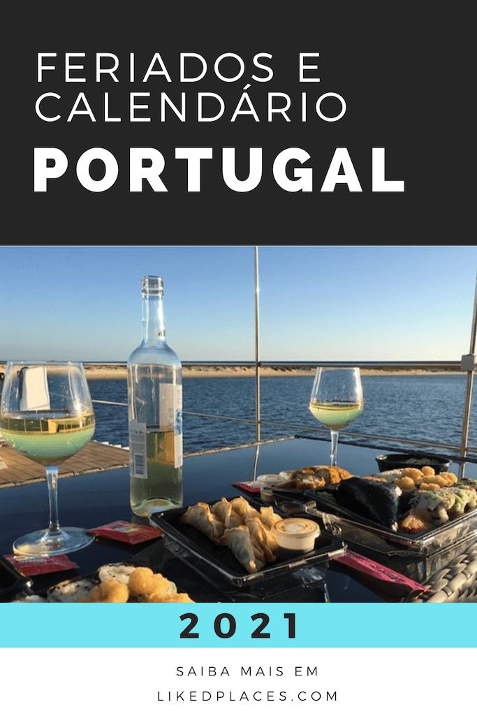 PIN Feriados em Portugal e Calendário 2021