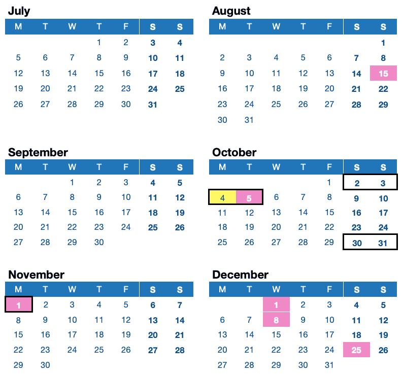 LikedPlaces Calendar and Public Holidays Portugal 2021 July August September October November December