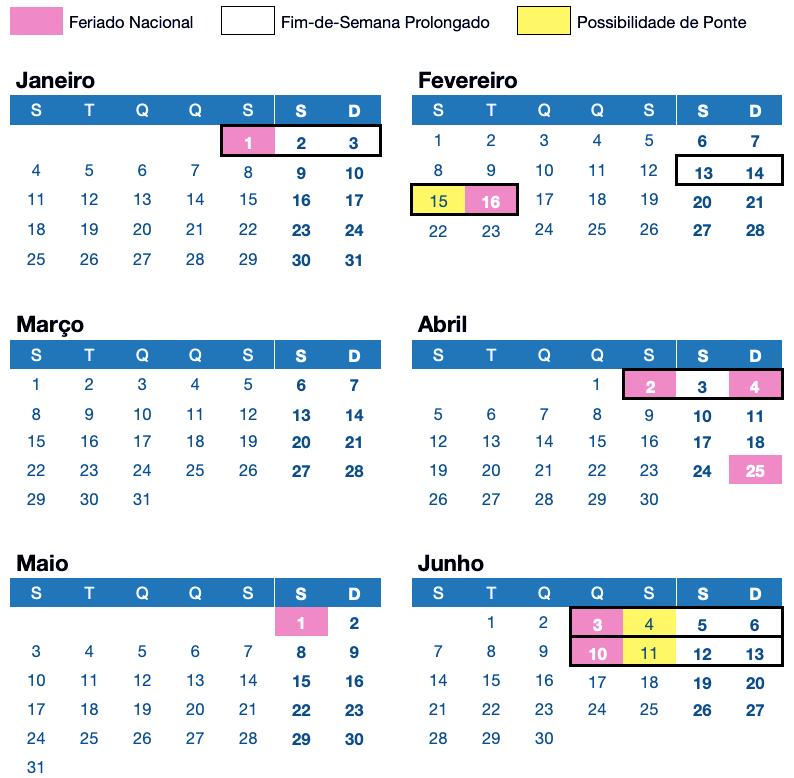 LikedPlaces Calendário Feriados Portugal 2021 Janeiro Fevereiro Março Abril Maio Junho