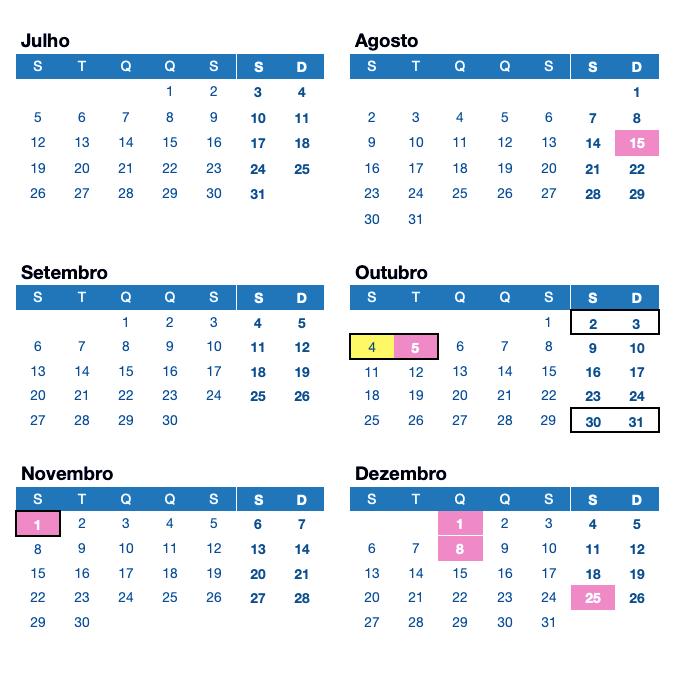 LikedPlaces Calendário Feriados Portugal 2021 Julho Agosto Setembro Outubro Novembro Dezembro