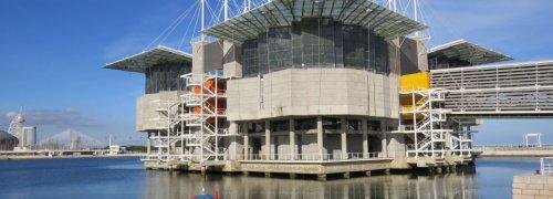 Lisboa Oceanário de Lisboa com Altice Arena, Torre Vasco da Gama e Ponte Vasco da Gama ao fundo, Lisbon Oceanarium, things to do in Lisbon, pontos turísticos em Lisboa