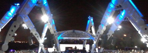 Concerto à noite no Rock in Rio Lisbon