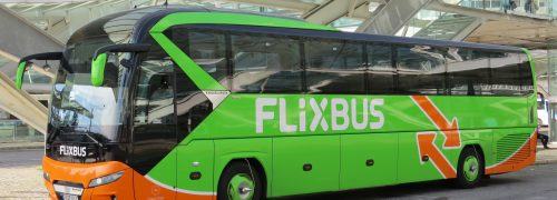 Autocarro de transporte de passageiros da Flixbus